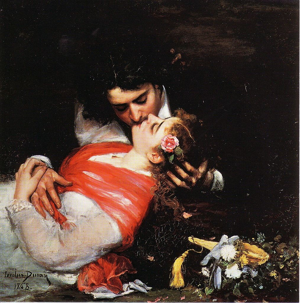 Le Baiser (also known as The Kiss), 1868 Charles Auguste Emile Carolus-Duran